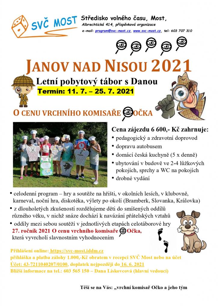 Letní tábor Janov n. Nisou s Danou