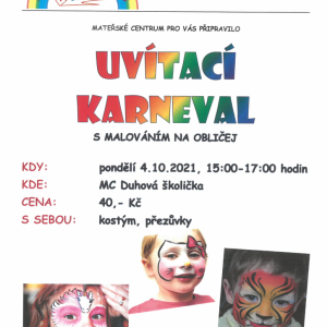 Karneval v mateřském centru