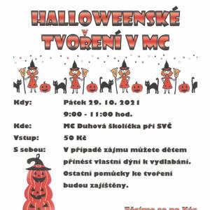 Halloweenské tvoření v mateřském centru